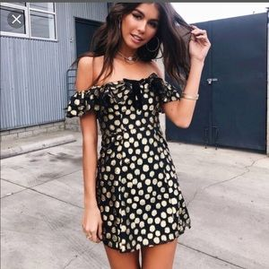 NEW NWT For Love & Lemons Lottie Ruffle Dress M